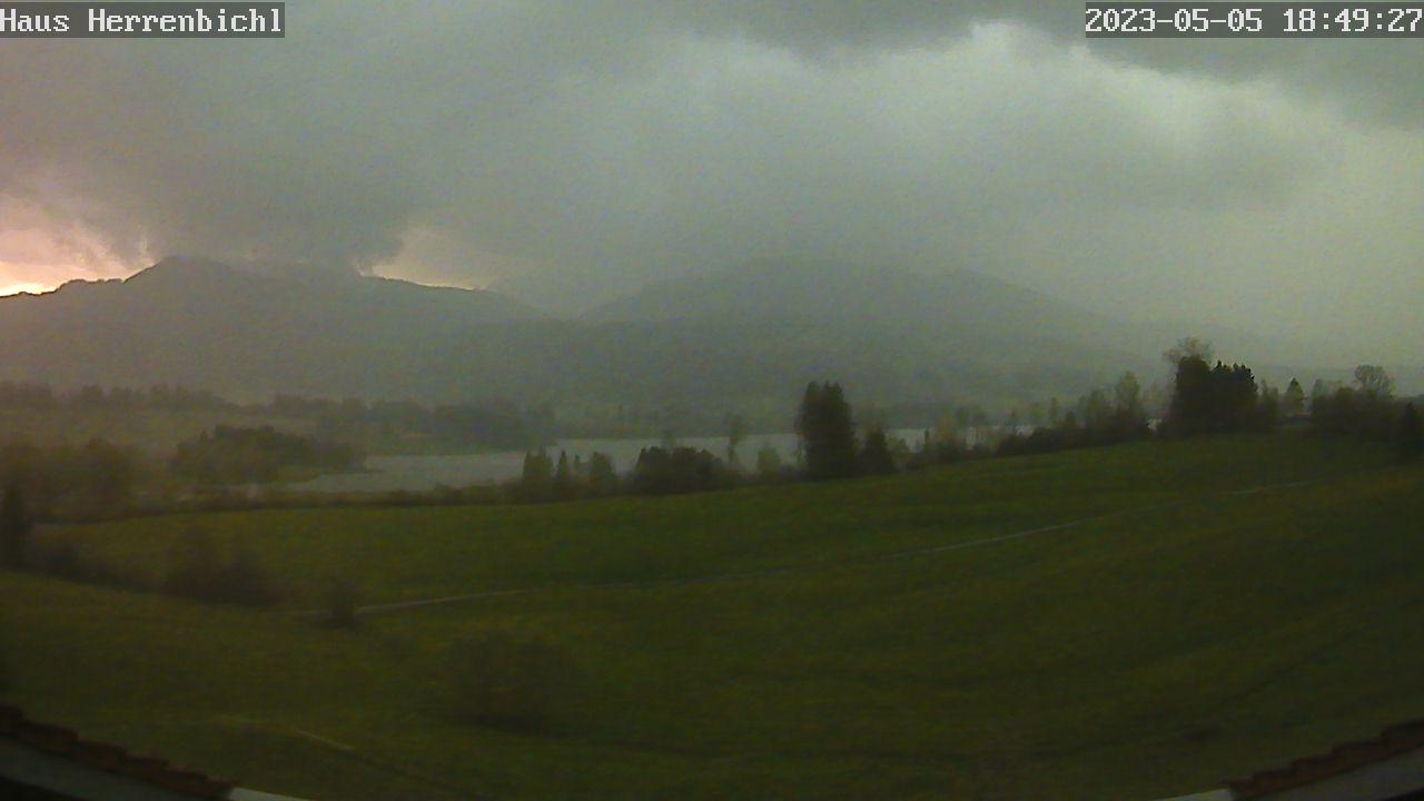 Webcam der Fewo am Herrenbichl, Faistenoy, Gemeinde Oy-Mittelberg (Oberallgäu)